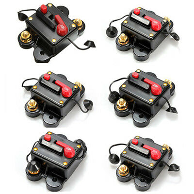 80~300A Auto Car Audio In line Circuit Breaker Manual Reset Boat 12V 24V Fuse ()