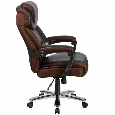 Flash Furniture Faux Leather Office Chair In Brown