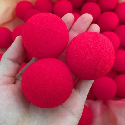 Red Balls (8Pcs 4.5cm Super Soft Sponge Red Balls Close-Up Magic Street Party Trick)