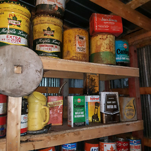 Large amount of antique cans Strathcona County Edmonton Area image 3