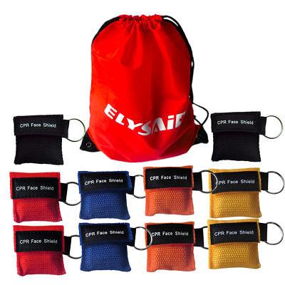 100 X Keychain CPR Maske Erste Hilfe Ausbildung CPR Gesichtsschutz 5 Farben