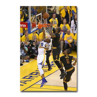 Basketball Poster Print (Lebron James Super basketball Star Silk Art Poster)