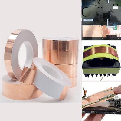 1pc 0.06mm8mm20m Copper Foil Tape Conductive Self Adhesive Heat Insulation