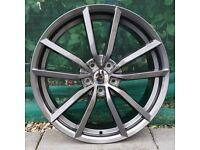 """19"""" Gunmetal Pretoria style alloy wheels for VW Audi Seat 5x112 ETC"""