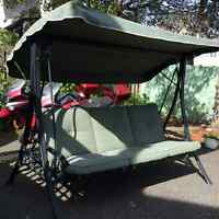 3 seater swing with canopy
