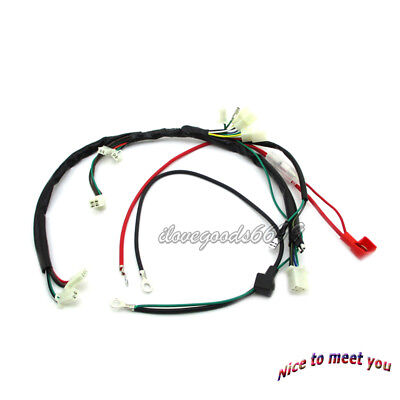 Wiring Harness Loom For 190cc Zongshen Motor Electric Start Engine Pit Dirt Bike