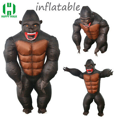 Gorilla Costumes For Adults (2019 King Kong Inflatable Costume Giant Gorilla Animal For Adults Kids)