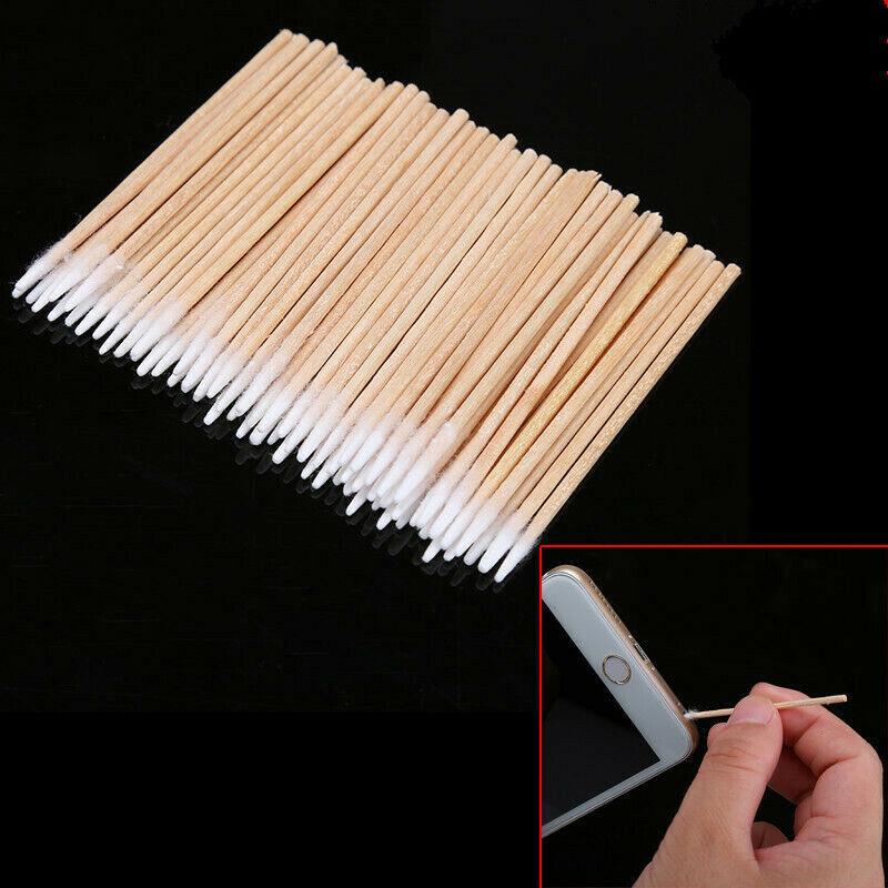 200Pcs/lot Cotton Stick Clean Tool for Phone Charge Port &Earphone Jack Repair