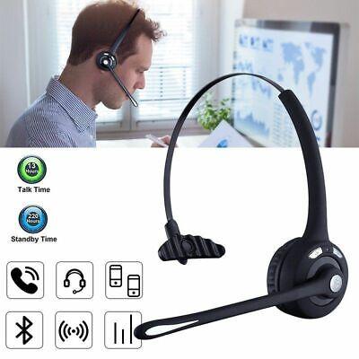 For Car Truck Driver Best Bluetooth Headset Wireless Headphones w/Mic