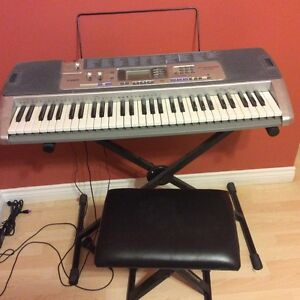 casio lk-100 with stand and stool