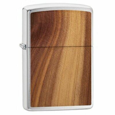 Zippo 29900, Woodchuck USA, Cedar Emblem, Brushed Chrome Finish Lighter