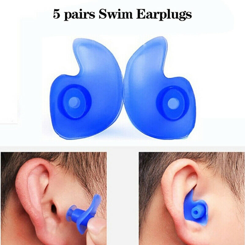 5pairs Soft Silcone Anti Noise Foam Ear Plugs For Swimming S