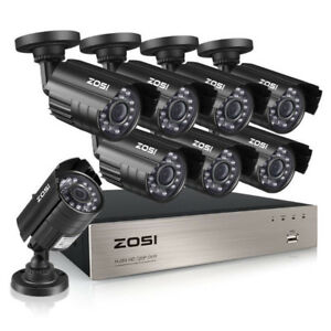 8 Camera HD IR 720P Video Security Surveillance DVR System