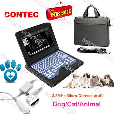 3.5m Micro-convex Probevet Veterinary Portable Laptop Ultrasound Scaner Machine