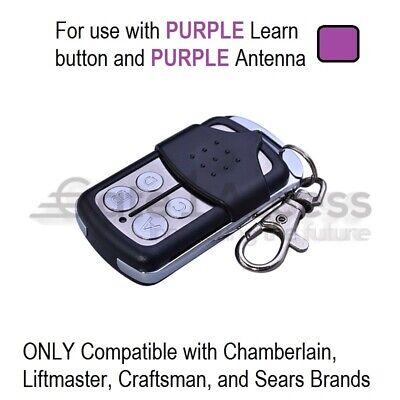 LiftMaster Garage Door Opener Remote Control Mini Purple Part Learn Button 4B Liftmaster Garage Door Remote Control