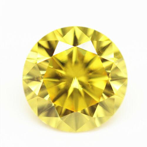 Golden Yellow Sapphire 52.28Ct 20mm Round Cut Shape AAAAA VVS Loose Gemstone