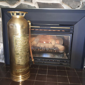 Vintage Brass  QuickAid  2.5 Gallon Fire Extinguisher Coin Bank