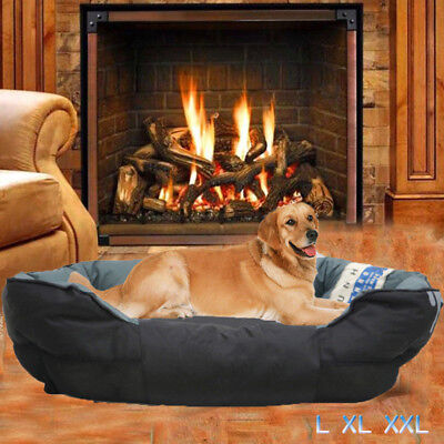 Pet Sleeper - Removable Snuggly Sleeper Pet Dog Cat Bed Foam Comfy Rim Cushion Nonslip Bottom