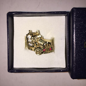 Truck Ring 10 kt. gold ( 5 stones on the ring MEN'S ) CASH ONLY