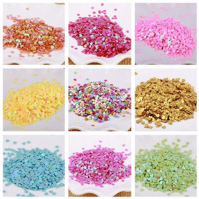 5g Nail Glitter Sequins Manicure Crafts DIY Nail Art Tips Heart Star Moon 1 Pack - Heart Glitter