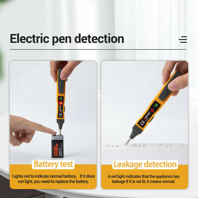 Safety Non-contact Voltage Detector Pen Safety Acdc Lcd Electric Detector Test