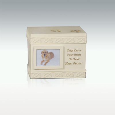 Perfect Memorials Dog Paws Box Cremation Urn Dogs Leave Paw Prints...