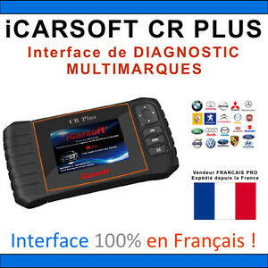interface diagnostique auto multimarques icarsoft cr plus valise diag obd2 ebay. Black Bedroom Furniture Sets. Home Design Ideas