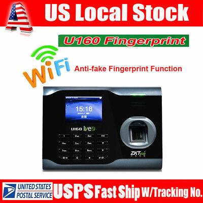 "ZKsoftware U160 3"" TFT Screen Biometric Wifi Fingerprint Time Attendance Scanner"