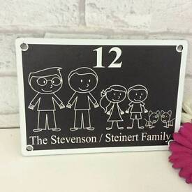 Personalised door plaques