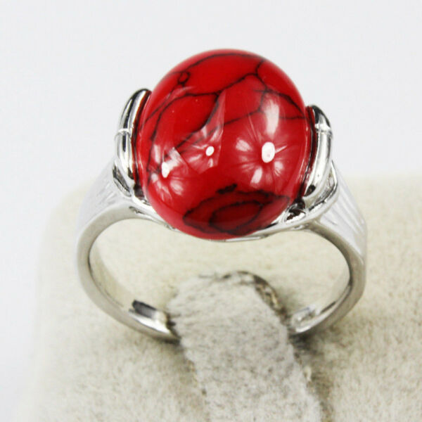 a5ca6546be9a3 Turquoise Gemstone Fashion Jewelry 925 Silver Plated Men Women Ring ...