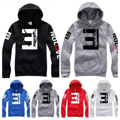 Us Stock 2018 Mens Fleece Hoodies Eminem Printed Pullover Sweatshirt Sportwear