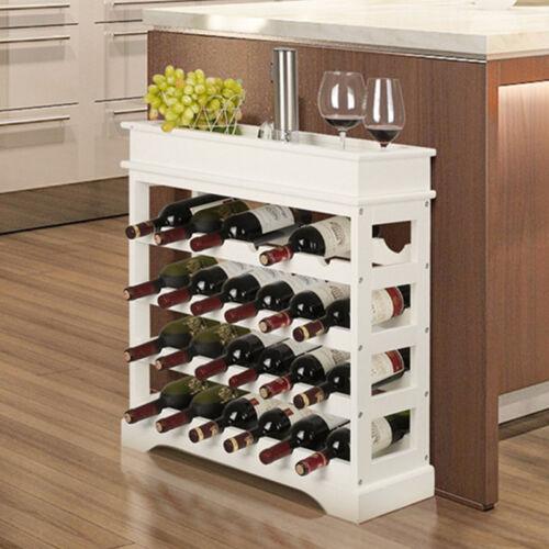 Weinregal Weinständer Flaschenständer Flaschenregal Holz Für 24 Flaschen weiß