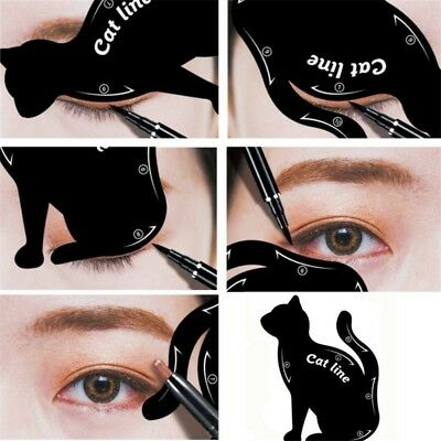 Beauty Eyebrow Mold Stencils Cat Line Eye Makeup Tool Eyeliner Template -