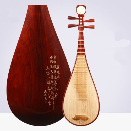 Hualee Wood Four string Pipa Musical Instruments lute Professional perform #021