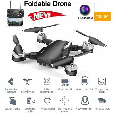 HJ28 Wide Foldable WIFI GPS FPV RC Quadcopter 1080P HD Camera Remote Drone US