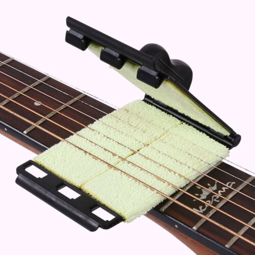 Guitar string cleaning, wiping and maintenance of special care device, string wi