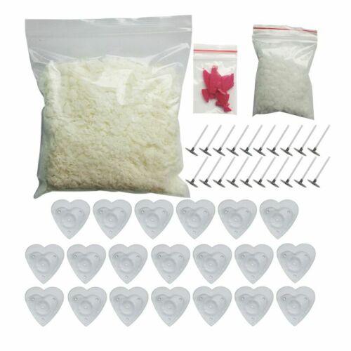 Candle Making Supplies Heart Shape Box Wicks Dye Soy Wax Diy Kit