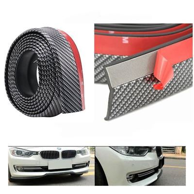 Acura Legend Body Kits - 2.5M Universal Carbon Fiber Car Front Bumper Lip Splitter Side Spoiler Protector