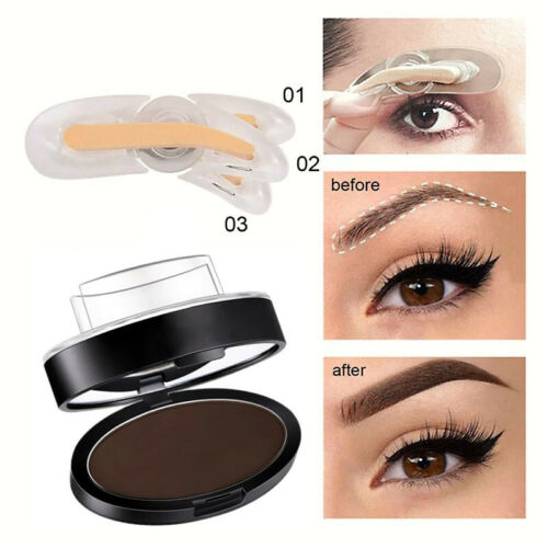 Eyebrow Stamp Powder Natural Shape Eye Makeup Waterproof Mirror ADJUSTABLE NEW