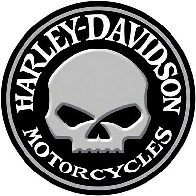 X 3 HARLEY DAVIDSON QUALITY  GLOSSY DECAL VINYL STICKERS  85MM 1 FREE