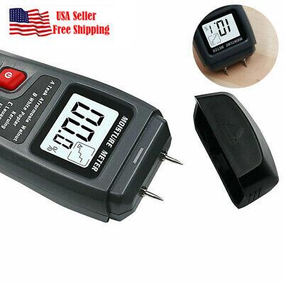 Digital Lcd Wood Moisture Meter 0-99.9 Wood Electrode Detector Humidity Tester