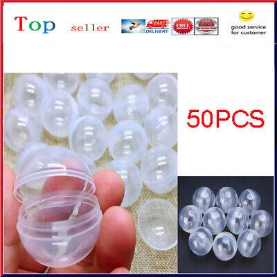 50 X Transparent Pp Vending Machine Empty Round Toy Capsules 30mm Dia