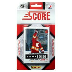 CALGARY FLAMES team set .... 2011-12 Score ... (19 hockey cards)