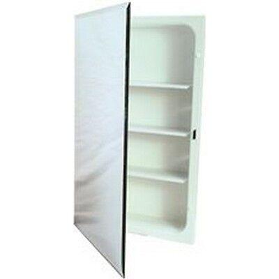 National Brand Alternative Recessed Plastic Medicine Cabinet, White, 16X20 In.