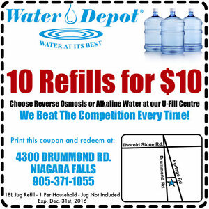 10 for $10 Refills for your Water Cooler Coupon