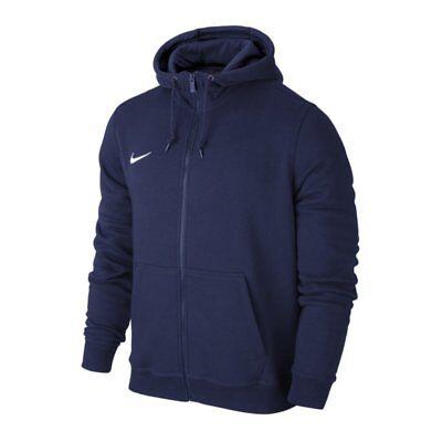 Kinder Hoodies Blau (Nike Team Club Full Zip Hoody Kinder Kapuzenjacke dunkelblau Hoodie Hoody 658499)