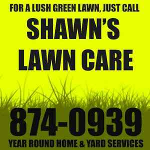 JUST CALL SHAWN FOR A LUSH GREEN LAWN Gutter & Window Cleaning