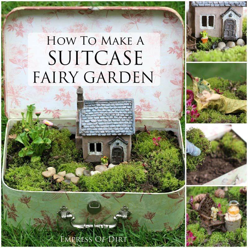 How To Make A Suitcase Fairy Garden