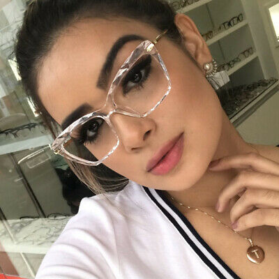 Luxury Square Glasses Eyeglass Frames Women Fashion Optical Computer Eyewear (Square Glasses Frames For Women)