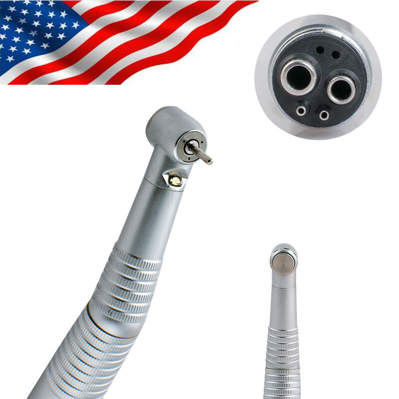 4 H Dental High Speed LED Handpiece E-generator 3-Water-Spray Turbine Denshine